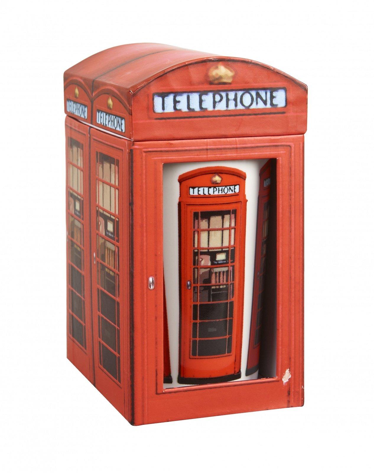 """Кружка """"Телефонная будка"""" в коробке 350 мл Churchill """"Достопримечательности Англии"""""""