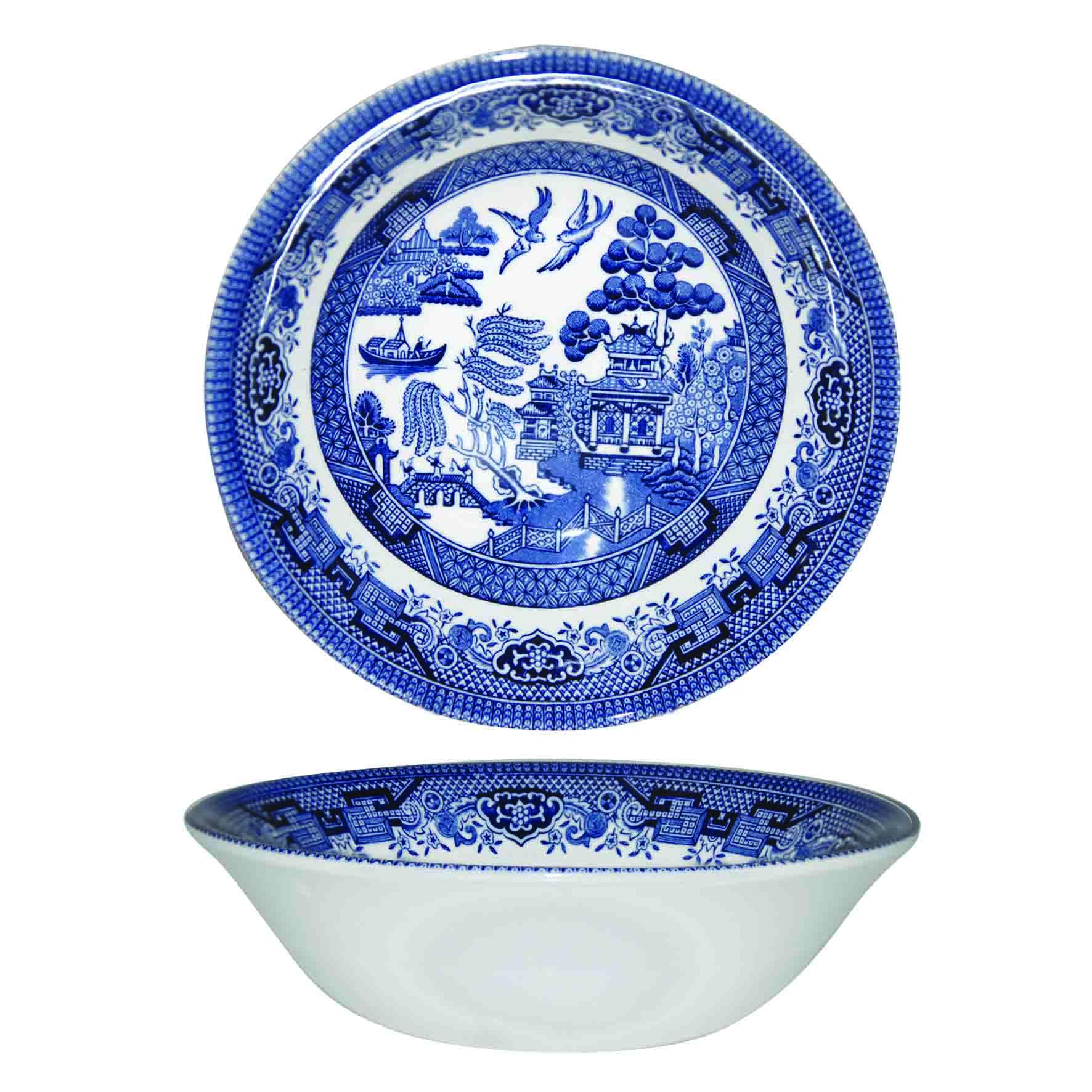 Тарелка суповая Churchill 22 см Голубая ива