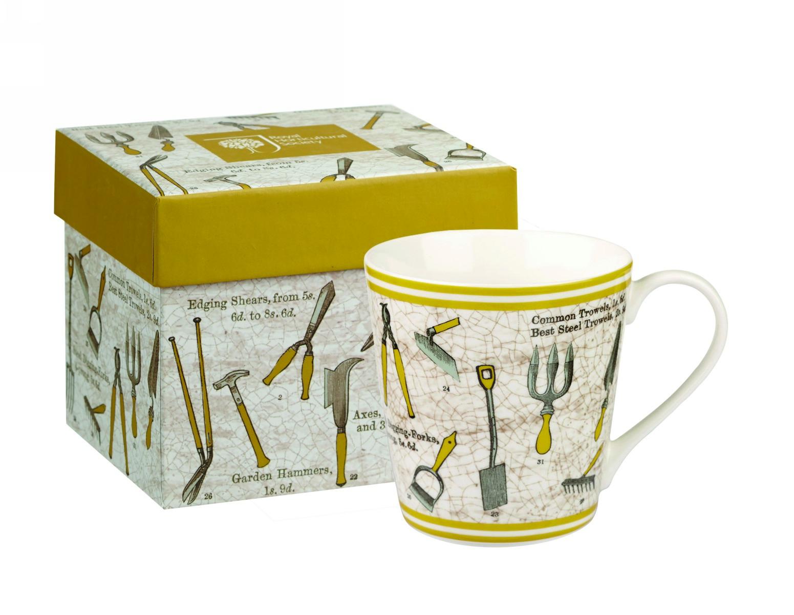"""Кружка Churchill """"Садовые инструменты"""" 300 мл, цвет: желтый, в коробке от Ботанический сад"""
