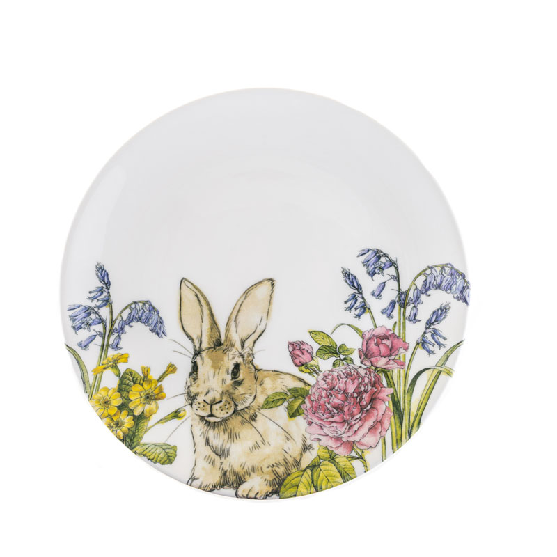 Тарелка 22 см Кролик на лугу Churchill