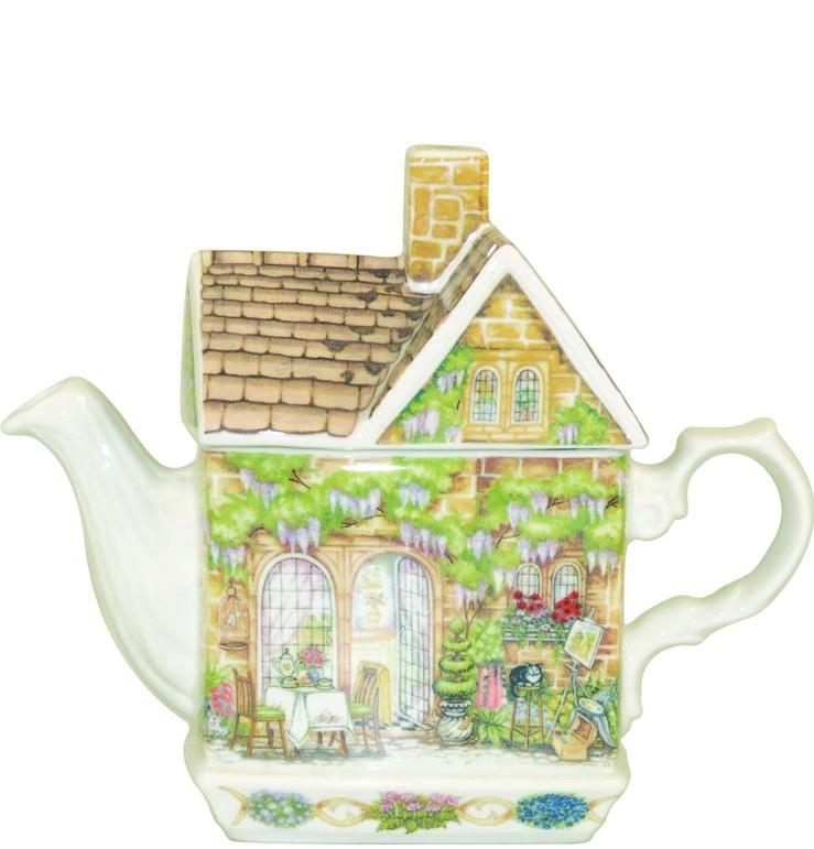 "Чайник-домик Churchill ""Лиловый домик"" 500 мл Английский домик от Джеймс Садлер"