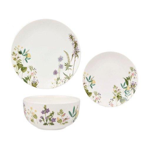 Набор 12 предметов: 4 тарелки 27 см, 4 тарелки 20,5 см, 4 пиалы 13 см