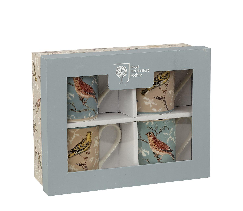 """Набор из 4х кружек """"Птицы"""" Churchill в подарочной коробке 250 мл Ботанический сад (КСО)"""