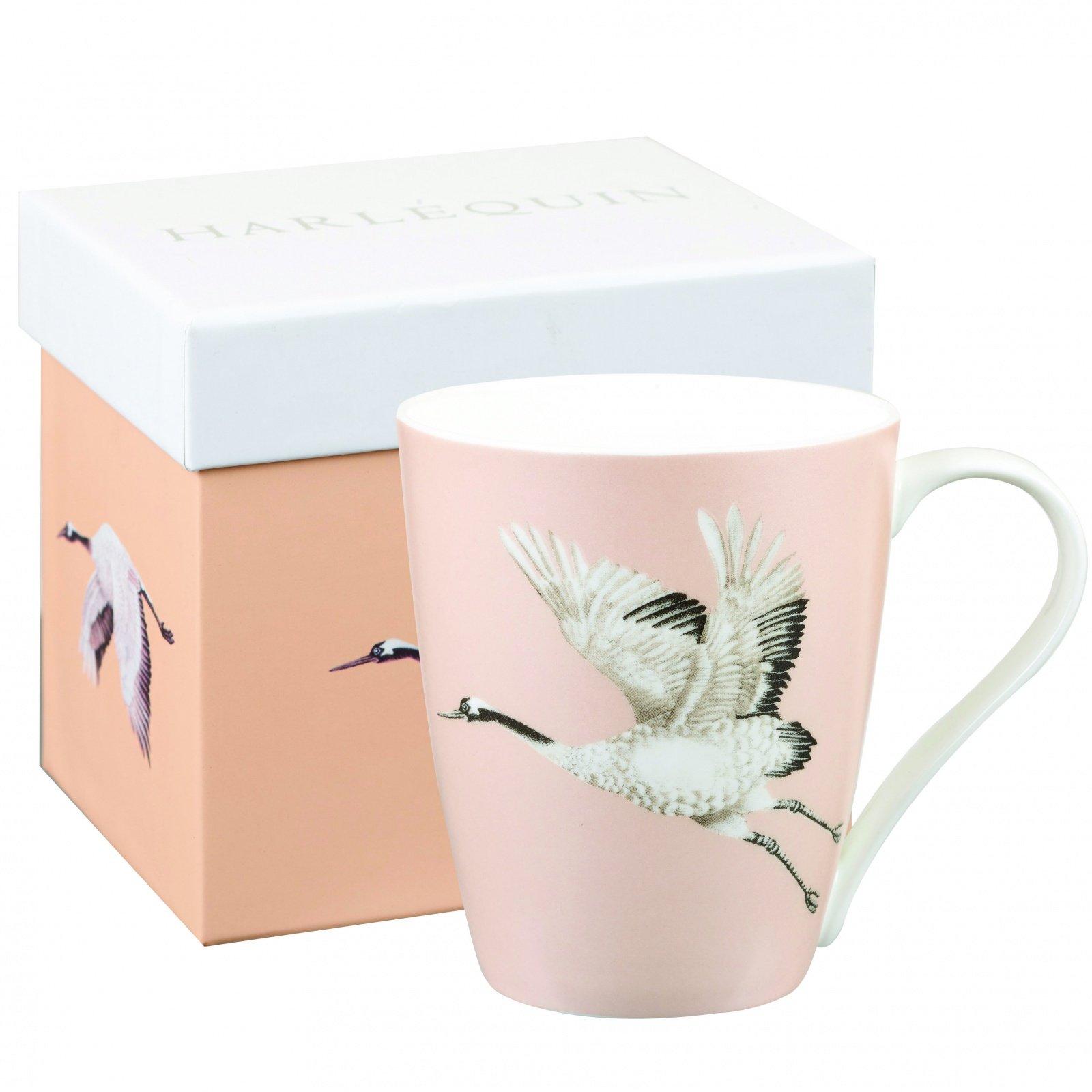 Кружка Churchill Журавль в подарочной коробке 425 мл, цвет розовый, от Арлекин
