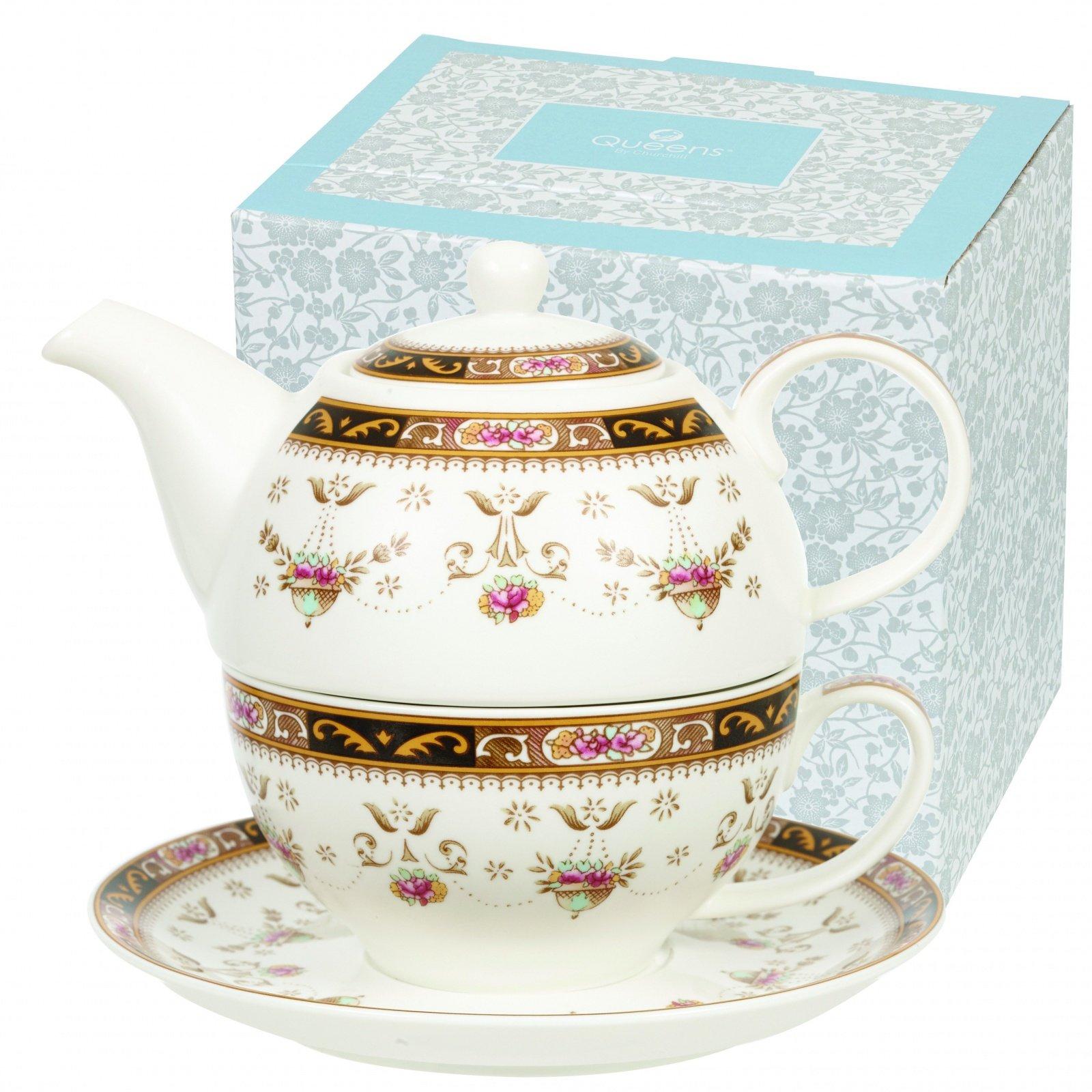 "Набор Churchill ""Англия"" 3 предмета: кружка 220мл, чайник 400мл, блюдце, Классик"