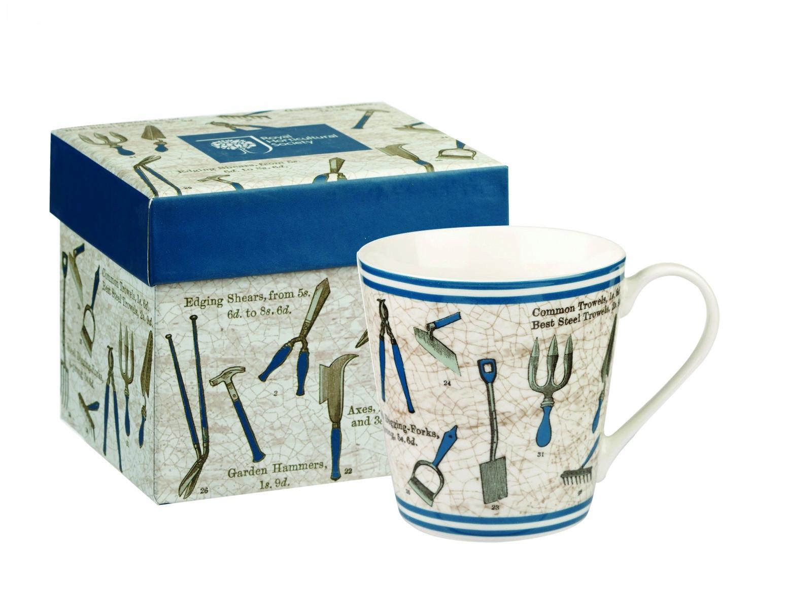 """Кружка Churchill """"Садовые инструменты"""" 300 мл, цвет: синий, в коробке от Ботанический сад"""