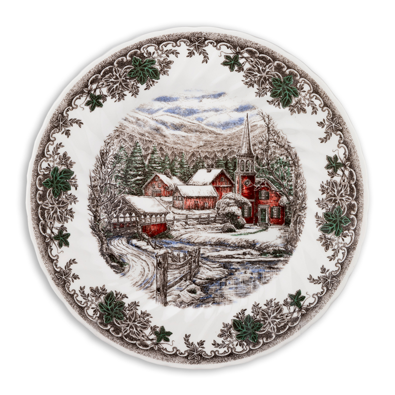 Тарелка 25 см Зимняя Деревня Churchill