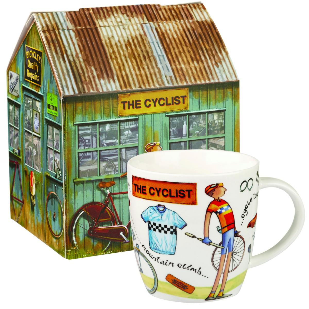 """Кружка Churchill """"Велосипедист"""" 400 мл в подарочной коробке от На досуге"""