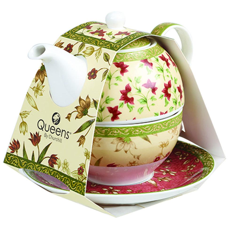 "Набор Churchill ""Цейлон"" 3 предмета: кружка 220мл, чайник 400мл, блюдце, Классик"