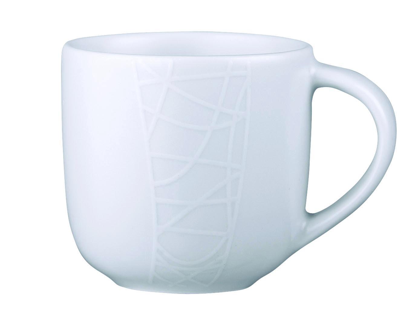 Кофейная чашка Churchill 170 мл Белое на белом от Джейми Оливер