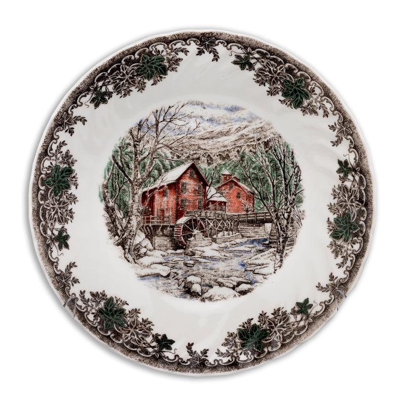 Глубокая тарелка 20 см Зимняя деревня Churchill