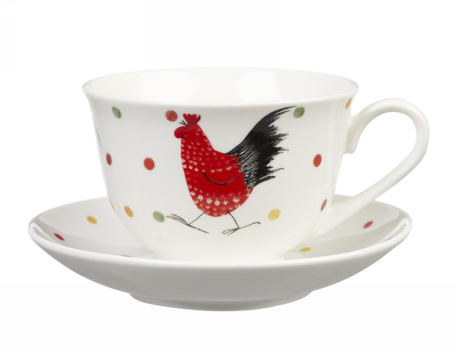 Чашка с блюдцем 200 мл Churchill Петухи от Алекс Кларк