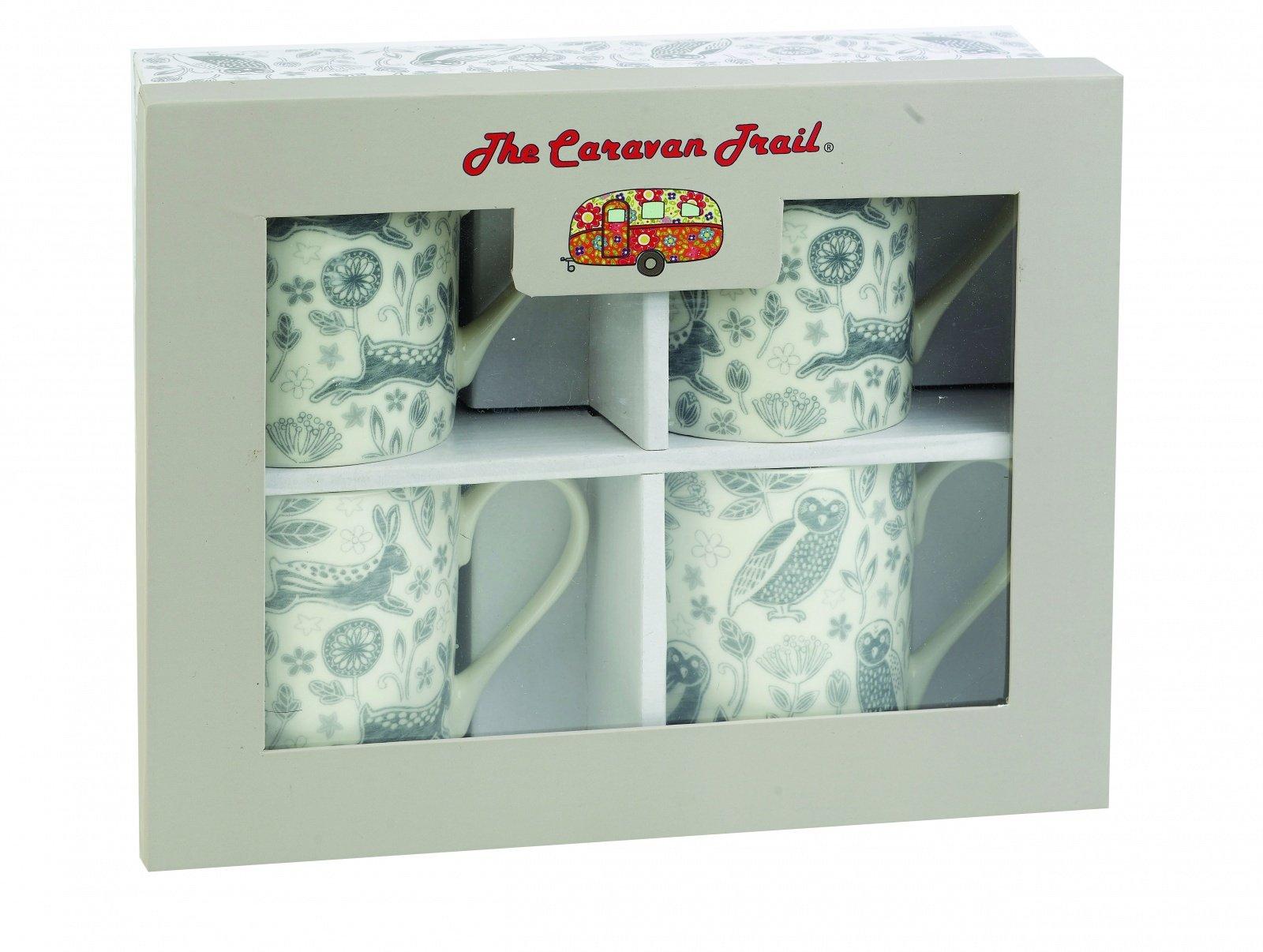 "Набор кружек ""Лес"" Churchill в подарочной коробке, 250 мл, 4 шт The Caravan Trail"
