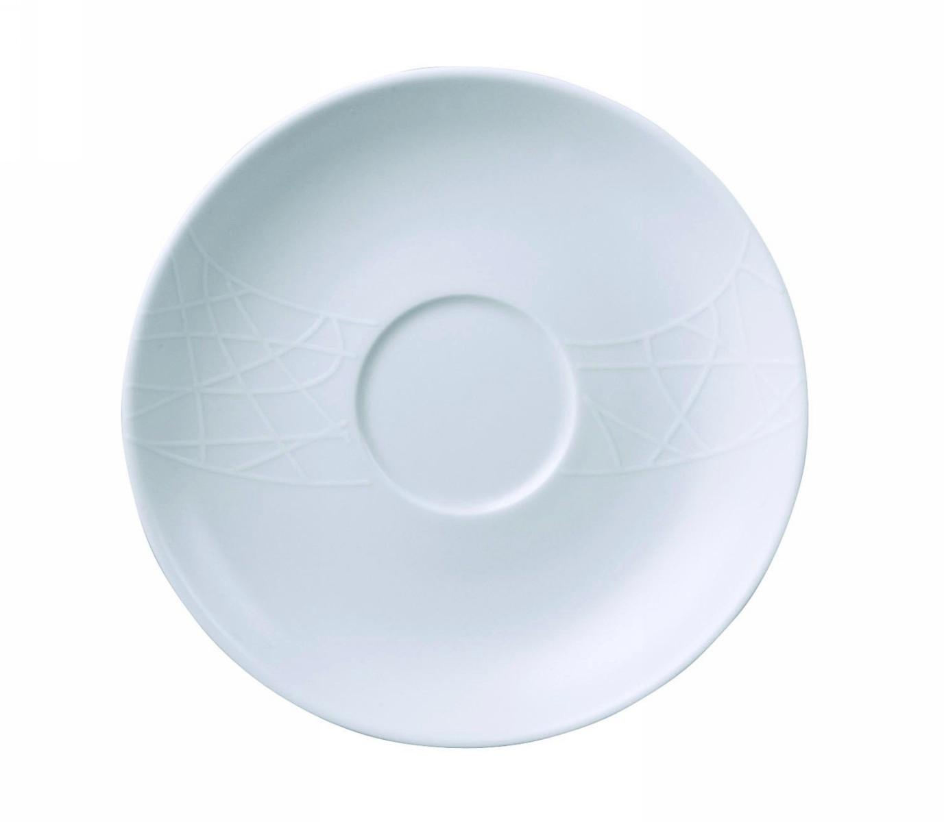 Чайное блюдце Churchill  17 см Белое на белом от Джейми Оливер