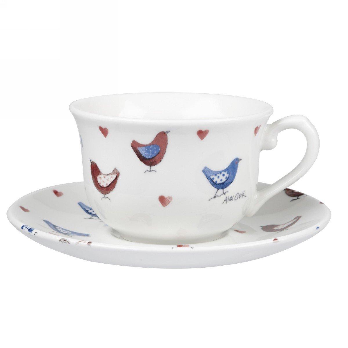 Чашка с блюдцем Churchill 200 мл Птички от Алекс Кларк