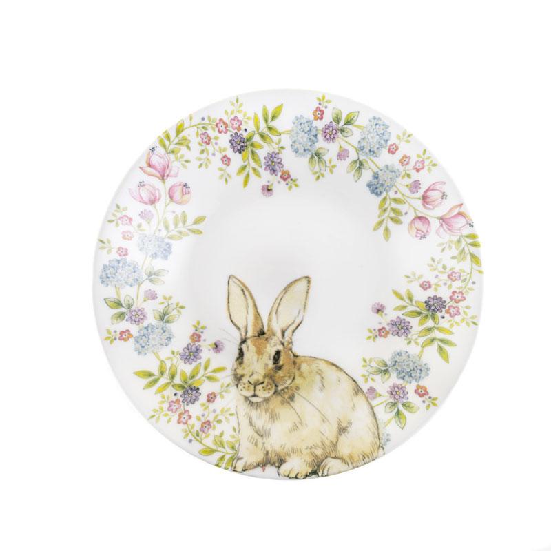 Глубокая тарелка 20 см Кролик в венке Churchill
