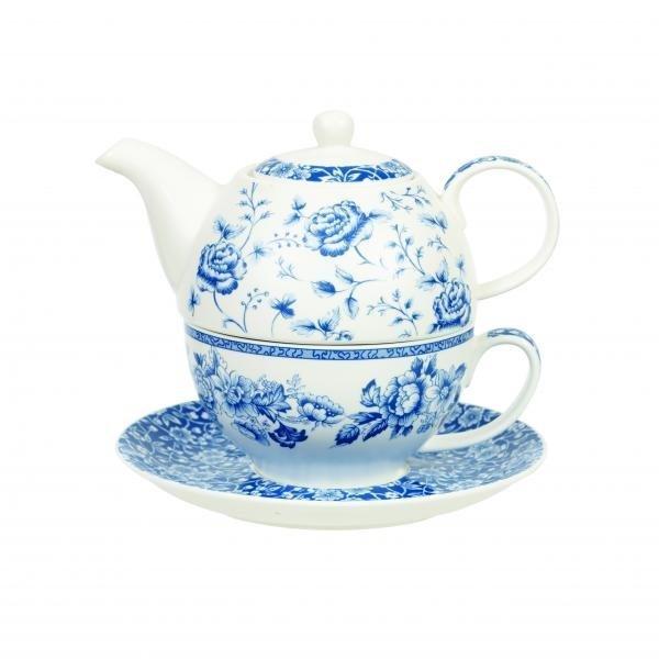 Набор Blue Story Churchill 3 предмета в подарочной упаковке: чайник 400 мл, чашка 220 мл и блюдце