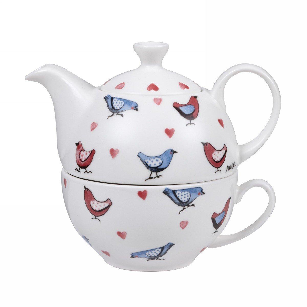Чайник 400 мл и чашка 200 мл Churchill Птички от Алекс Кларк