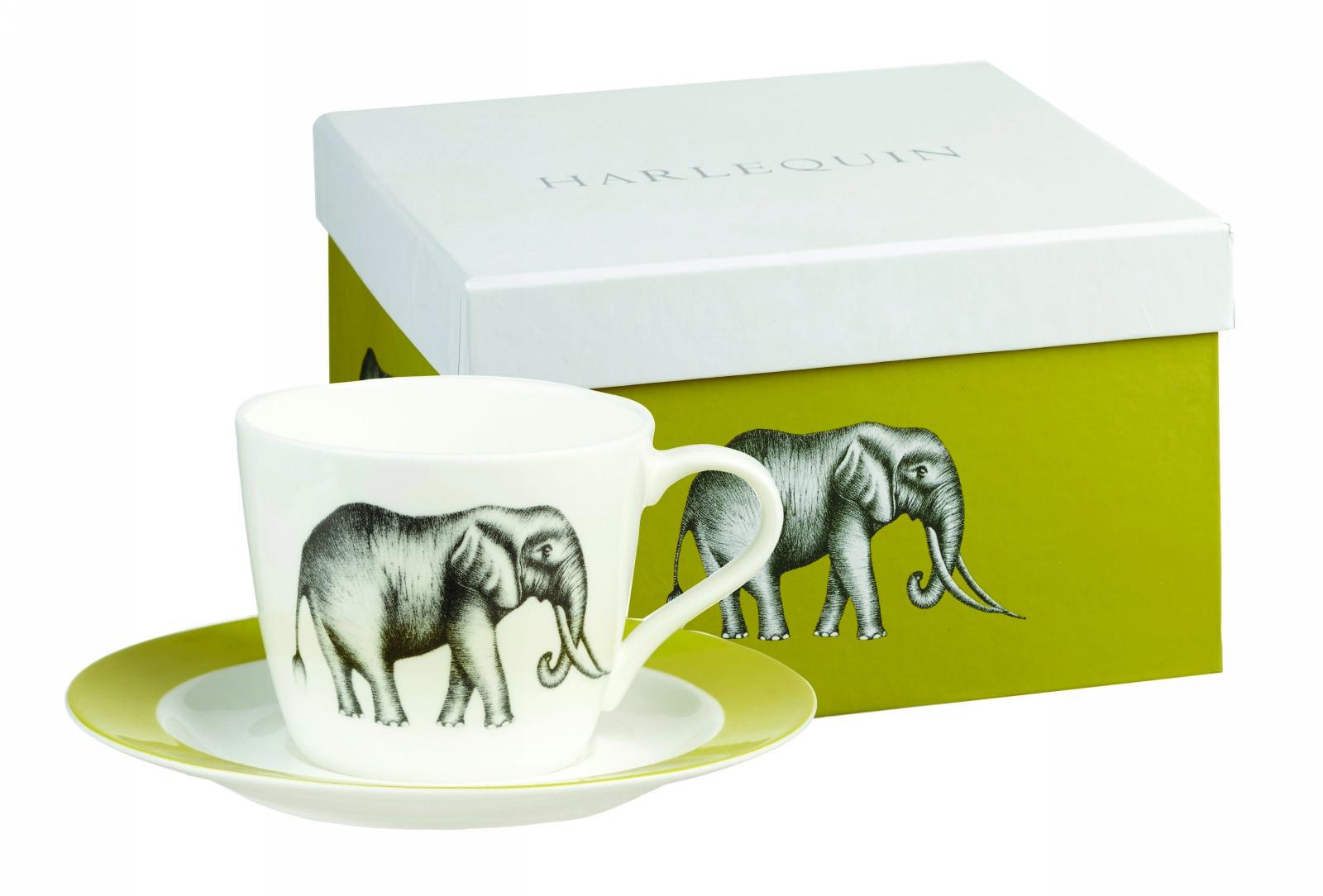 Чайный набор Churchill: чашка с блюдцем, 200 мл, цвет: белый Саванна от Арлекин